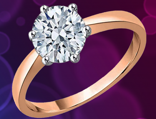 KATARINA – Diamond Solitaire Promise Ring in 10K Rose-Gold