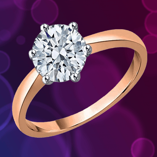 KATARINA Diamond Solitaire Promise Ring in 10K Gold A