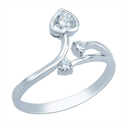 Caratera - Fine Jewelry Women's 18K White Gold Promise Ring 1
