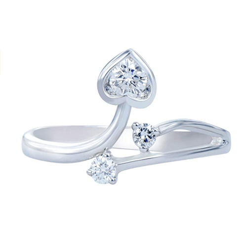 Caratera - Fine Jewelry Women's 18K White Gold Promise Ring 2
