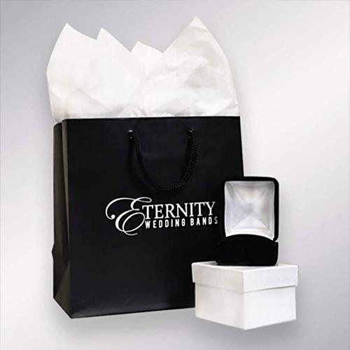 ETERNITY WEDDING BANDS - Classic Men's Diamond Promise Ring in 14K White-Gold 5