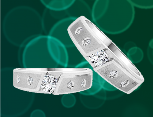 GiveMeGold – CZ Crystals 14K White Gold Promise Rings For Couples