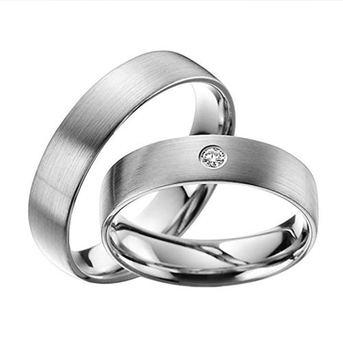 Skielka Designschmuck - Stunning Platinum Promise Rings with Diamond 1