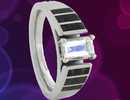 The Men's Jewelry Store (for HER) – 14k White Gold Rainbow Moonstone Cathedral