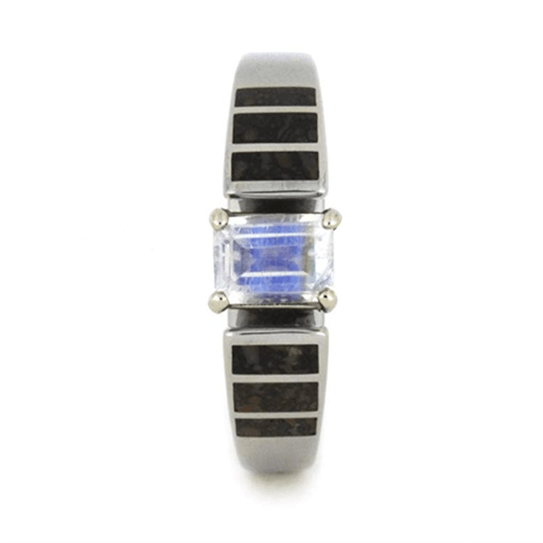 The Men's Jewelry Store (for HER) - 14k White Gold Rainbow Moonstone Cathedral 2