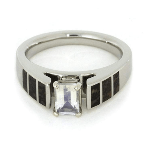 The Men's Jewelry Store (for HER) - 14k White Gold Rainbow Moonstone Cathedral 3
