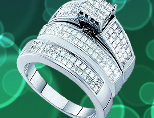 Dazzlingrock Collection – White Gold White Diamond Promise Rings for Couples