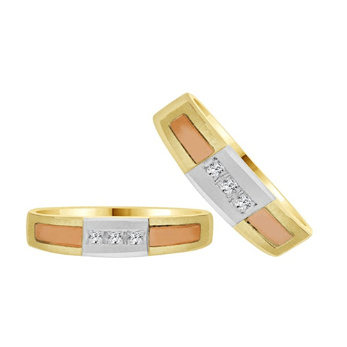 GiveMeGold - 14K Tricolor Gold Promise Rings 1