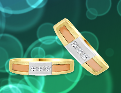 GiveMeGold – 14K Tricolor Gold Promise Rings