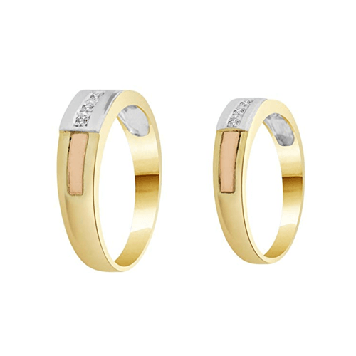 GiveMeGold - 14K Tricolor Gold Promise Rings 2