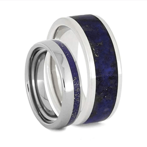 The Men's Jewelry Store - Lapis Lazuli Promise Rings for Couples 1