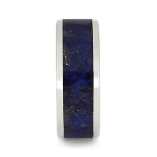 The Men's Jewelry Store - Lapis Lazuli Promise Rings for Couples 2