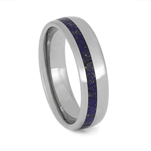 The Men's Jewelry Store - Lapis Lazuli Promise Rings for Couples 3