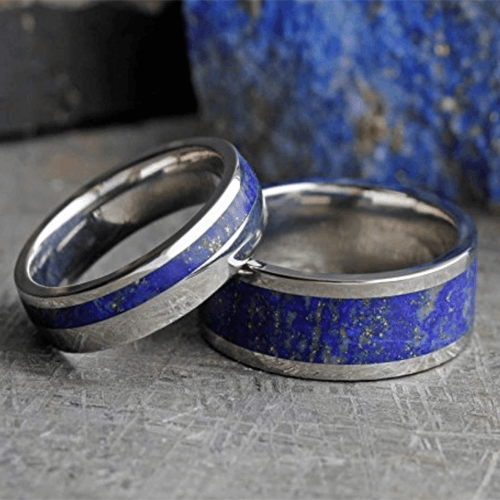 The Men's Jewelry Store - Lapis Lazuli Promise Rings for Couples 4