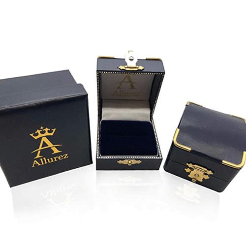 Allurez - Men's Black Diamond Nautical Compass Palladium Promise Ring 5