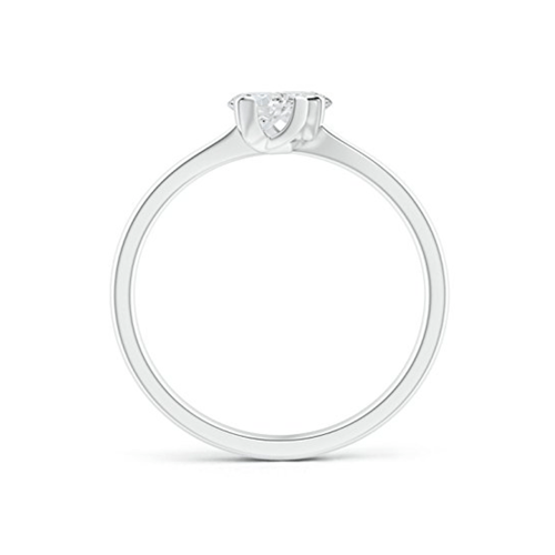 Angara - Twist 2 Stone Platinum Diamond Promise Ring 2