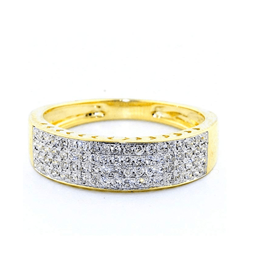 IdealCutGems - 10K Yellow Gold His and Her 3pc Promise Ring Set 3