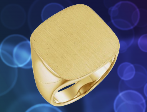 The Men's Jewelry Store – Men's Closed Back 18k Gold Promise Ring