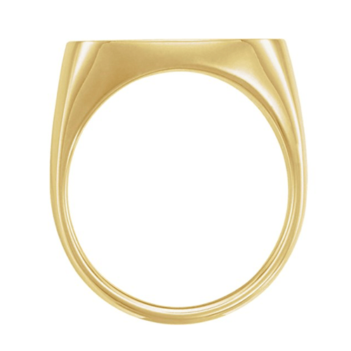 The Men's Jewelry Store - Men's Closed Back Square Signet Ring, 18k Yellow Gold 2