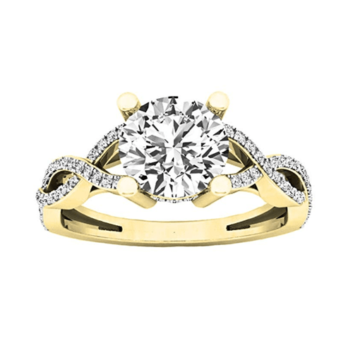 Dazzlingrock Collection - 14K Gold Round Diamond Promise Ring 2