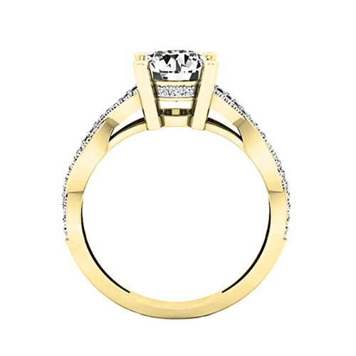 Dazzlingrock Collection - 14K Gold Round Diamond Promise Ring 4