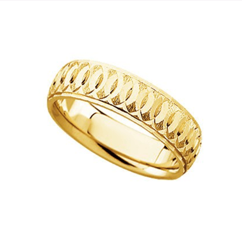 The Men's Jewelry Store - 14k Yellow Gold Comfort-Fit Circle Promise Ring 1