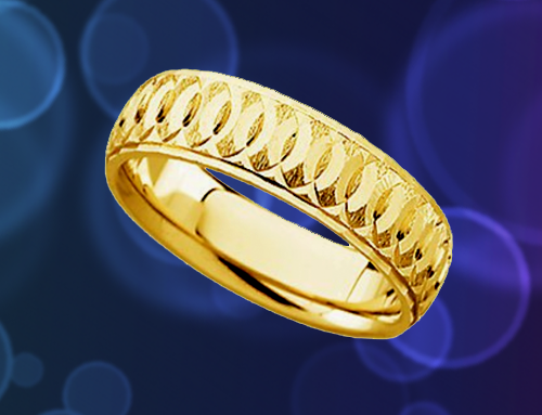 The Men's Jewelry Store – 14k Yellow Gold Comfort-Fit Circle Promise Ring