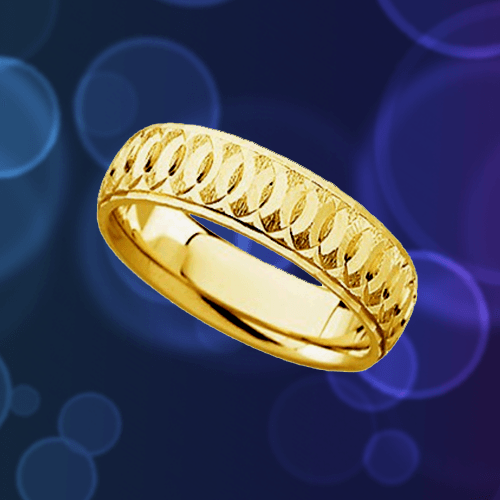 The Men's Jewelry Store - 14k Yellow Gold Comfort-Fit Circle Promise Ring 1A