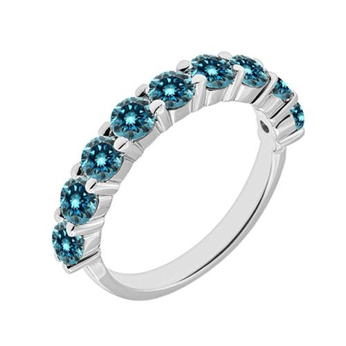 Jascina - Blue Diamond 14K W Gold Promise Ring 1