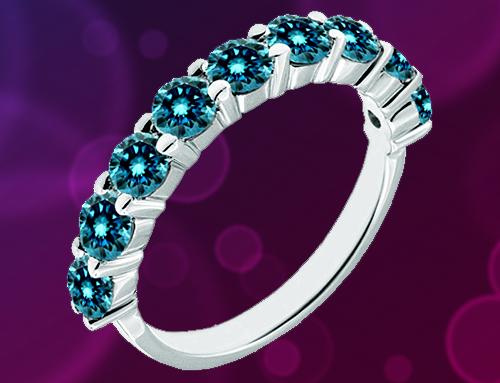 Jascina – Blue Diamond 14K White Gold Promise Ring