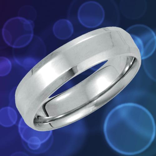 14k White-Gold Beveled Edge Promise Ring 1A