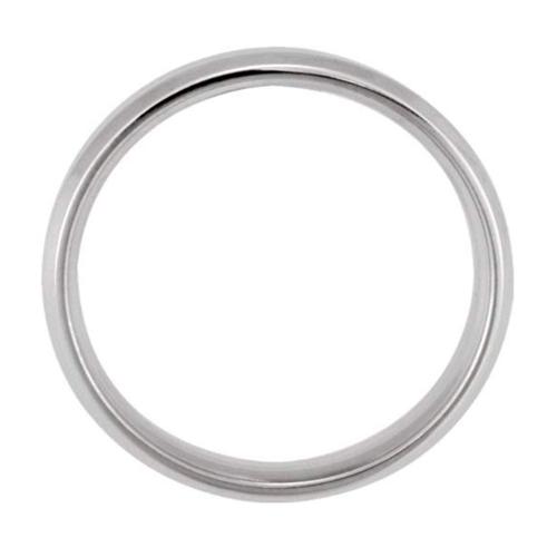 14k White-Gold Beveled Edge Promise Ring 2