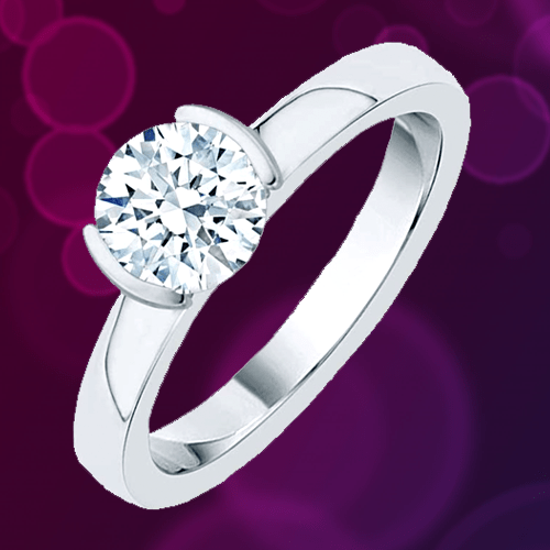 Katarina - 14K Gold Diamond Solitaire Promise Ring 1A