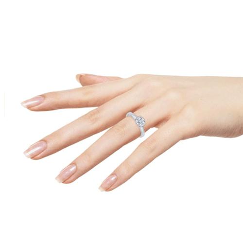 Katarina - 14K Gold Diamond Solitaire Promise Ring 3