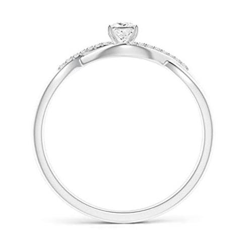 Angara - Diamond White-Gold Infinity Swirl Promise Ring 2
